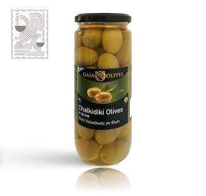 Πράσινες ελιές Χαλκιδικής ολόκληρες 500ml