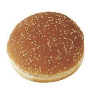 Ψωμί hamburger mega σουσάμι κτψ 125 γρ. - Συσκευασία 24 τεμάχια