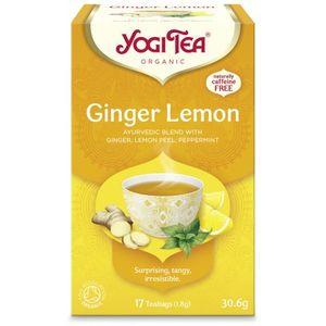 Yogi tea ginger lemon (καυτερή δροσιά)  6x17φακ