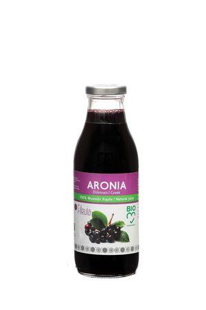 100% Φυσικός Βιολογικός χυμός Αρώνιας γυάλινη φιάλη των 500 ml