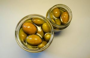 Organic Olives of Manaki variety in a jar 180gr