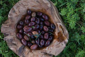 Jumbo Kalamon Olives (181-200) 1kg- package 13kg (tin) metal container