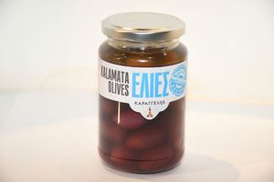 Pitted Olives in glass package 370ml (weight of olives 200g)