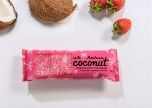 Coconut bar with Strawberry flavor NATURALS 100g