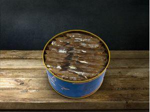 Pilchard preserved in salt without skin in olive oil 200gr