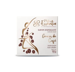 Exfoliating coffee beans soap