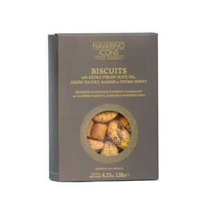 Navarino Icons Cookies with yogurt, raisins, extra virgin olive oil and thyme honey - 120g - Pack of 15 pieces