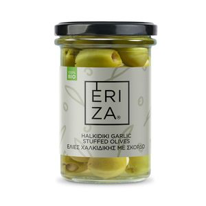 Organic Khalkidhiki Garlic Stuffed Olives 165g