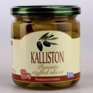 Authentic Greek green olives pimento stuffed KALLISTON 400ml glass