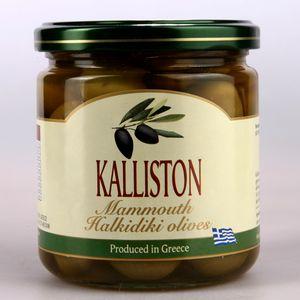 Authentic Greek green olives KALLISTON 400ml glass