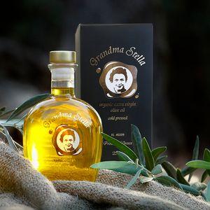 100ml -1lt organic extra virgin olive oil in a glass bottle