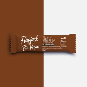 Flapjack Bio Vegan with Oats, Almonds, Almond Butter, Agave Syrup & Coconut Sugar NATURALS 50g