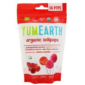 Organic lollipops (pomegranate, watermelon, strawberry & peach) - 14pcs / 6x85gr
