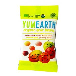 organic sour beans (pomegranate, mango, apple, peach) 12x50gr