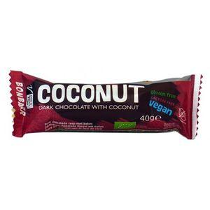 Dark chocolate bar with coconut 24x40gr