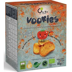 Vookies rusks with tomato and basil 15Χ80gr