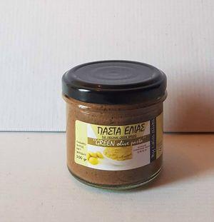 Πάστα Ελιάς από πράσινες ελιές Αμφίσσης 100gr - Συσκευασία 18 τεμάχια