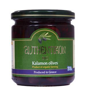 Organic black olives AUTHENTIKON 400ml glass