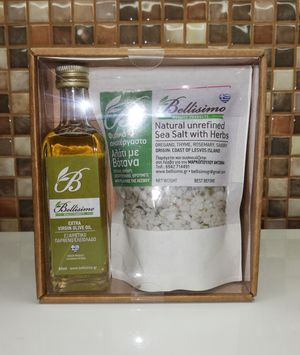 GIFT PACKAGE (OLIVE OIL-SALT WITH HERBS)