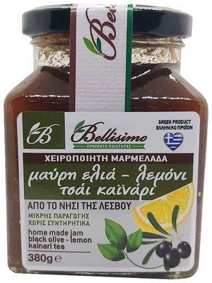 Black olive-lemon-kainari tea jam