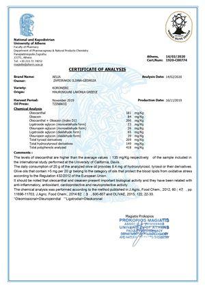health claim certificate