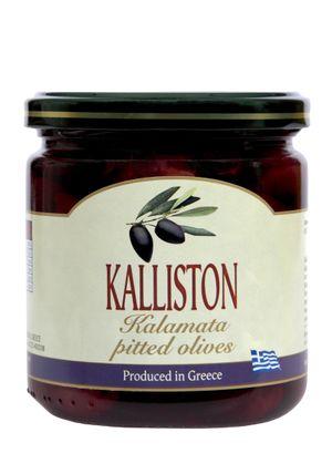 Authentic Greek black olives pitted KALLISTON 400ml glass