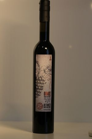 Sweet red wine with organic unheated petimezi 500 mL