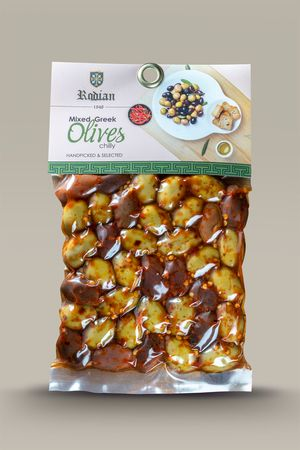 Spicy mixed olives 150g - Vacuum