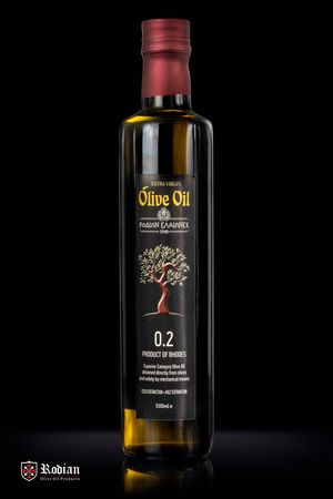 Rodion Olive groves - Extra Virgin Olive Oil 0.2% Acidity 500ml - DORICA Packaging