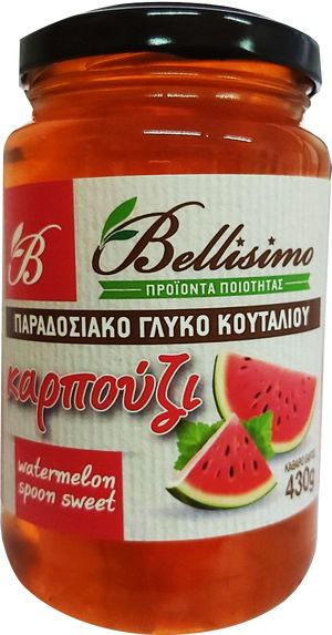 Handmade spoon sweet watermelon