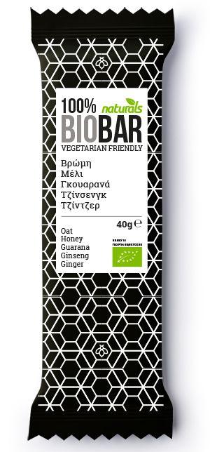 BIO Bar with Oats, honey, guarana, ginseng & ginger NATURALS 40g