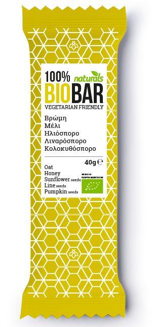 BIO Bar with Oats, honey, sunflower seeds, flaxseed & pumpkin seeds NATURALS 40g