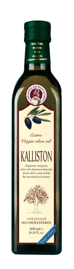 Authentic Greek Extra Virgin Olive Oil KALLISTON 1 litter Glass bottle