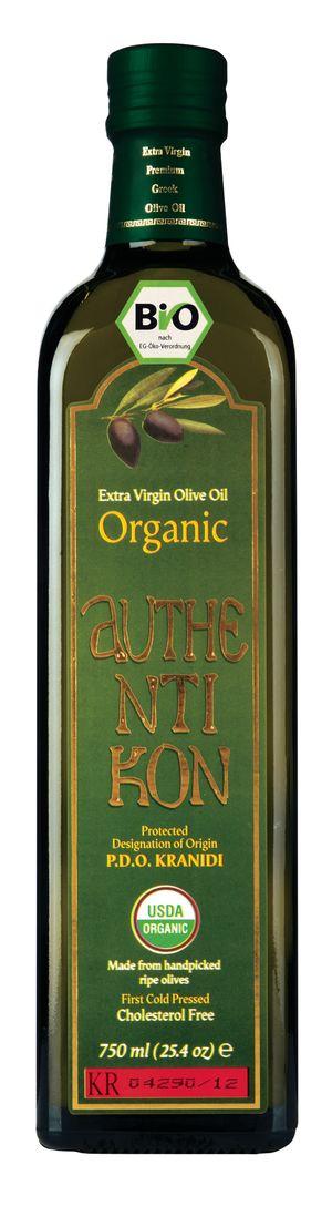 Organic Extra Virgin Olive Oil AUTHENTIKON 750ml Glass bottle