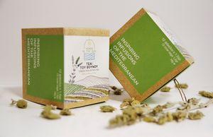 Greek Mountain Teabags - Gift box 12 sachets Organic Greek Sideritis Herbs