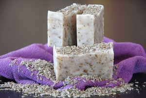 Natural Soap Bar with Dried Lavender