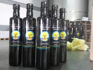 Authentic Greek Extra Virgin Olive Oil thea&thea 500ml glass bottle