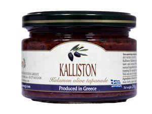 Authentic Greek black olive paste KALLISTON 270ml glass