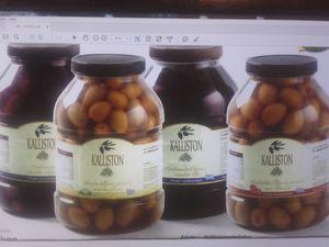 Authentic Greek black olives KALLISTON 20 liter -Tin Pack