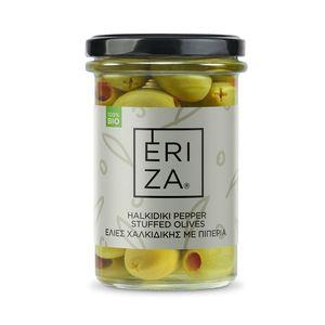 Organic Halkidiki Pepper Stuffed Olives 165g