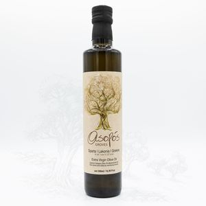 ASOPOS extra virgin olive oil 500ml  bottle - packaging carton box of 12 pcs