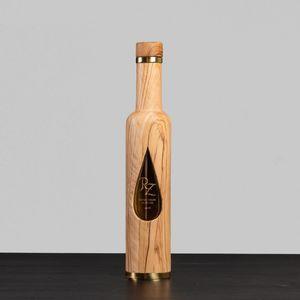 Olive Wood Bottle 250 ml: Olive Drop Design - Extra Virgin Olive oil