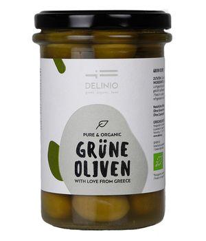 Organic Green Olives 314 gr jar - naturally debitterd