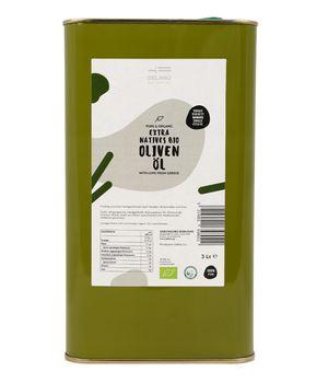 Premium Extra Virgin Organic Olive Oil Extra Virgin Manaki 3 liters