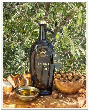 Tesoro Del Rio 750ml Excellence Organic Extra Virgin Olive Oil Glass Bottle