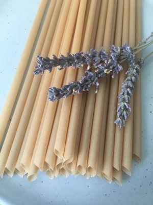 100 Plastic-Free Sugarcane Drinking Straws