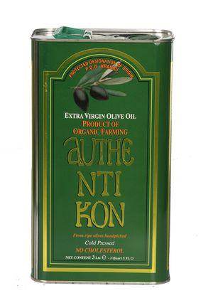 Organic Extra Virgin Olive Oil AUTHENTIKON - 3 Liter tin