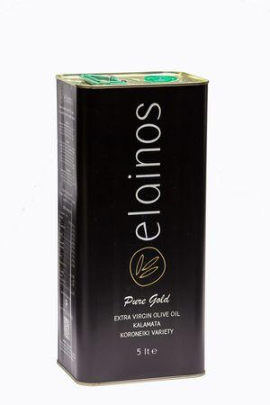 Extra Virgin Olive Oil From Kalamata  - Elainos - Tin Canister 5lt