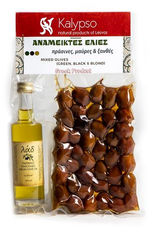 Mixed Olives - Virgin Olive Oil from Lesvos
