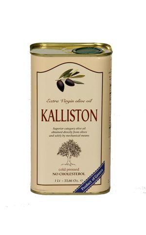 Authentic Greek Extra Virgin Olive Oil KALLISTON 1 litter tin
